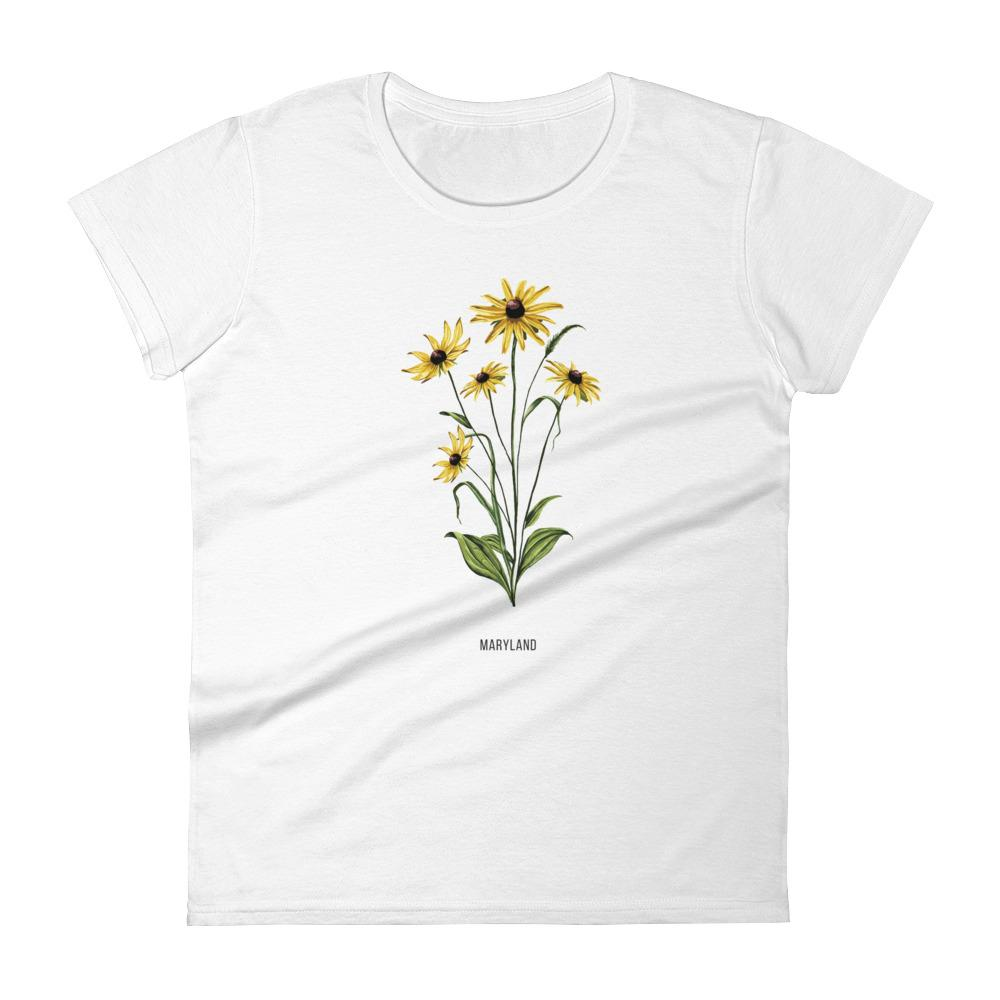 State Flower Shop T-Shirt MARYLAND Black-Eyed Susan Shirt