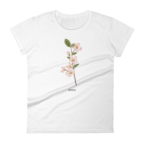 State Flower Shop T-Shirt MICHIGAN Apple Blossom Shirt