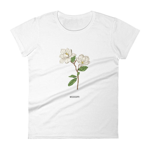 State Flower Shop T-Shirt MISSISSIPPI Magnolia Shirt