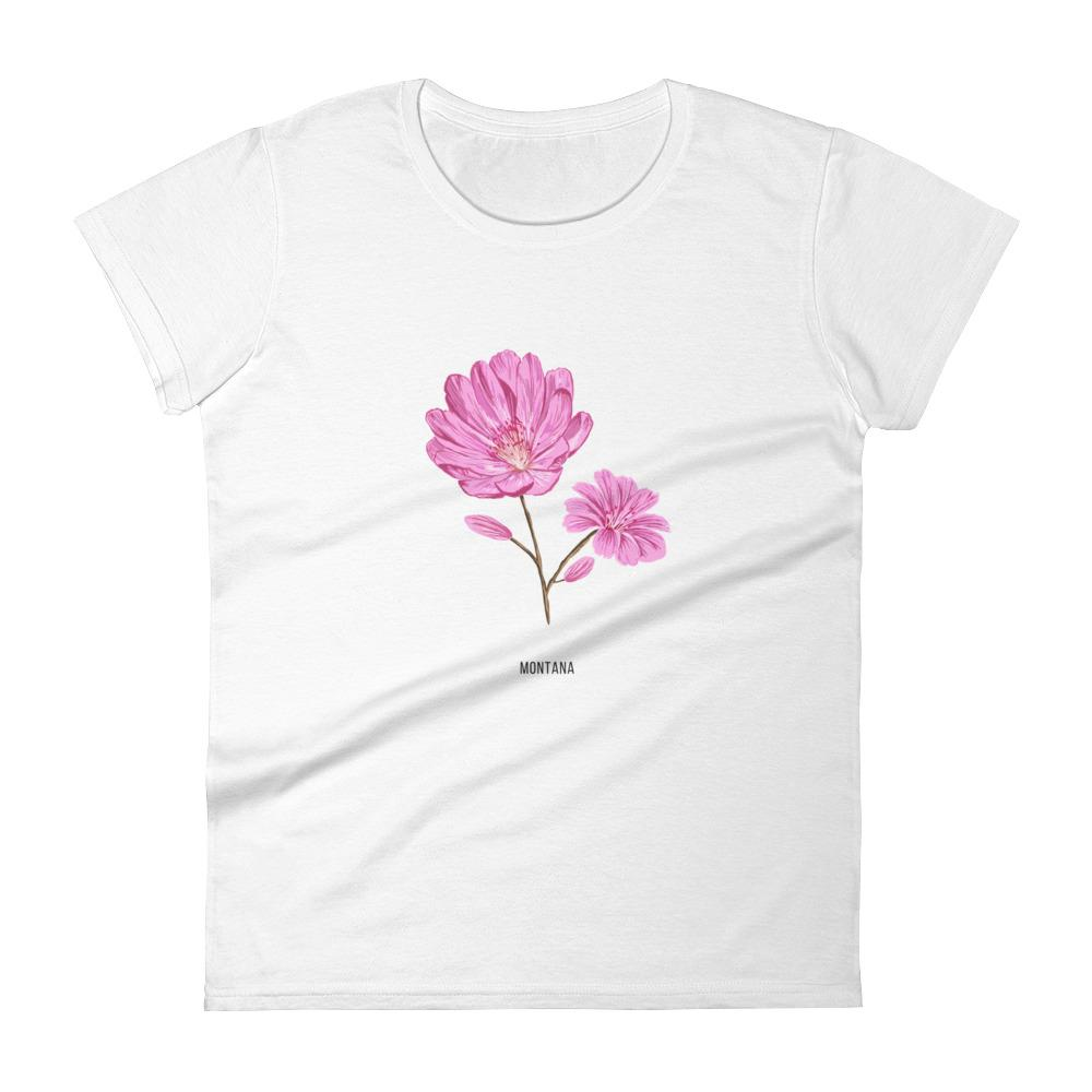 State Flower Shop T-Shirt MONTANA Bitterroot Shirt