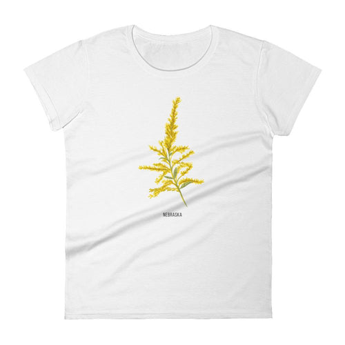 State Flower Shop T-Shirt NEBRASKA Goldenrod Shirt
