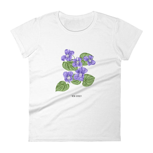 State Flower Shop T-Shirt NEW JERSEY Wood Violet Shirt
