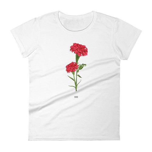 State Flower Shop T-Shirt OHIO Carnation Flower Shirt