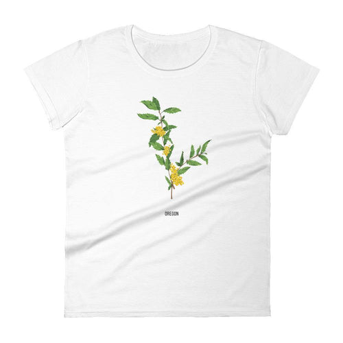 State Flower Shop T-Shirt OREGON Grape Flower Tee