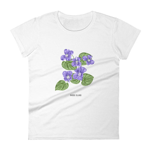 State Flower Shop T-Shirt RHODE ISLAND Violet Flower Shirt