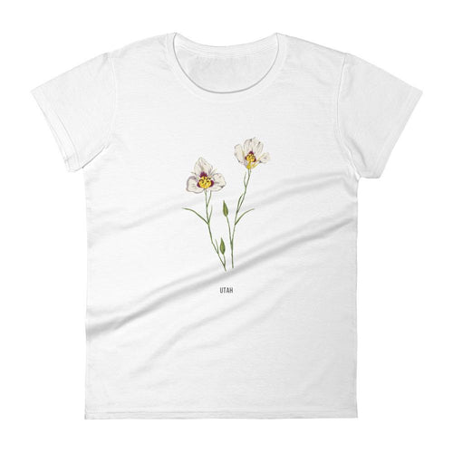 State Flower Shop T-Shirt UTAH Sego Lily Flower Shirt