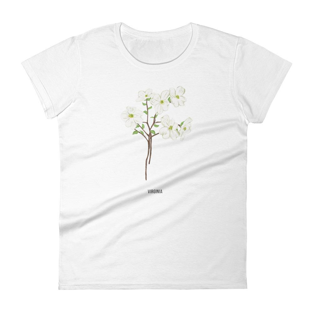 State Flower Shop T-Shirt VIRGINIA Dogwood Flower Shirt