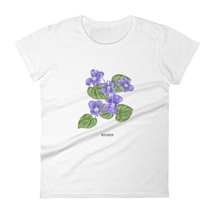 State Flower Shop T-Shirt WISCONSIN Violet Flower Shirt