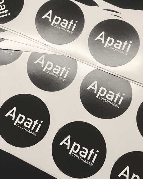 Apati logo stickers