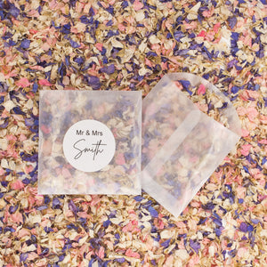 Eco Confetti Vintage Style Petals in Bags - 10 Pack