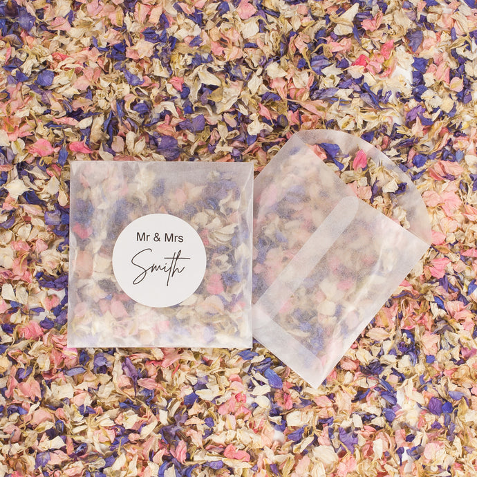 Eco Confetti Vintage Style Luxe Petals with Bags - 10 Pack