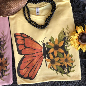Flutter By Butterfly Tee (Color Options)