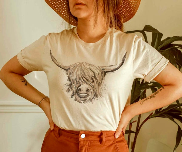 The Highland Cow Tee
