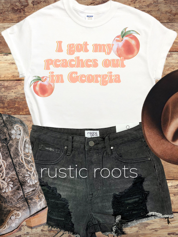Peaches Out In Georgia Tee