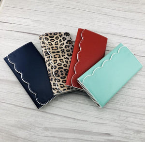 Scalloped Wallets