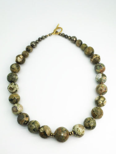 Rhyolite Beaded Necklace