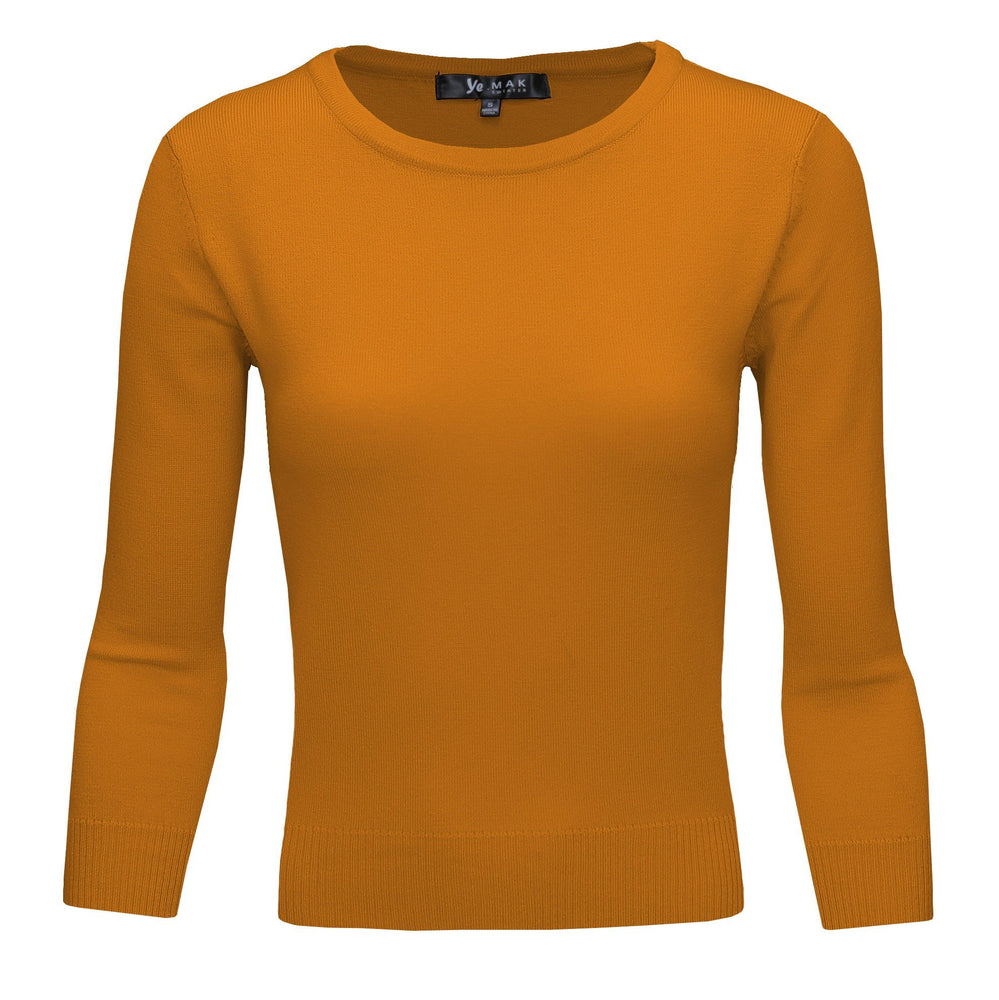 Bronze Slim Fit Pullover Sweaters