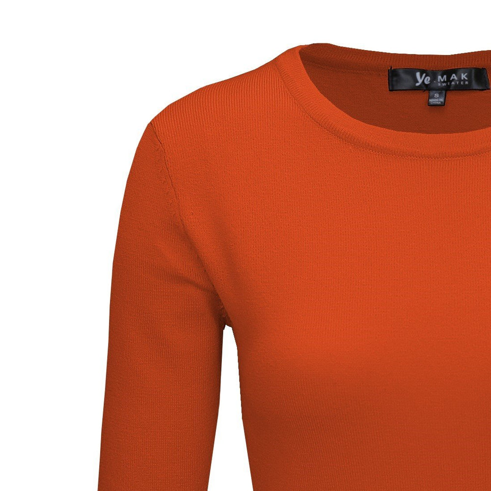 Dusty Orange Light Weighted Pullover Sweaters