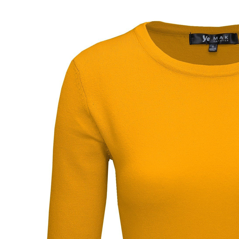 Honey Yellow Light Weighted Pullover Sweaters