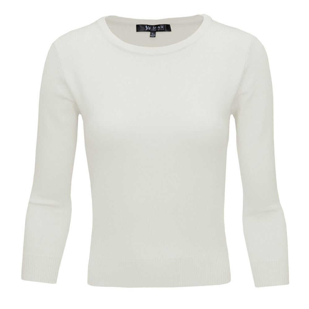 Ivory Light Slim Fit Pullover Sweaters
