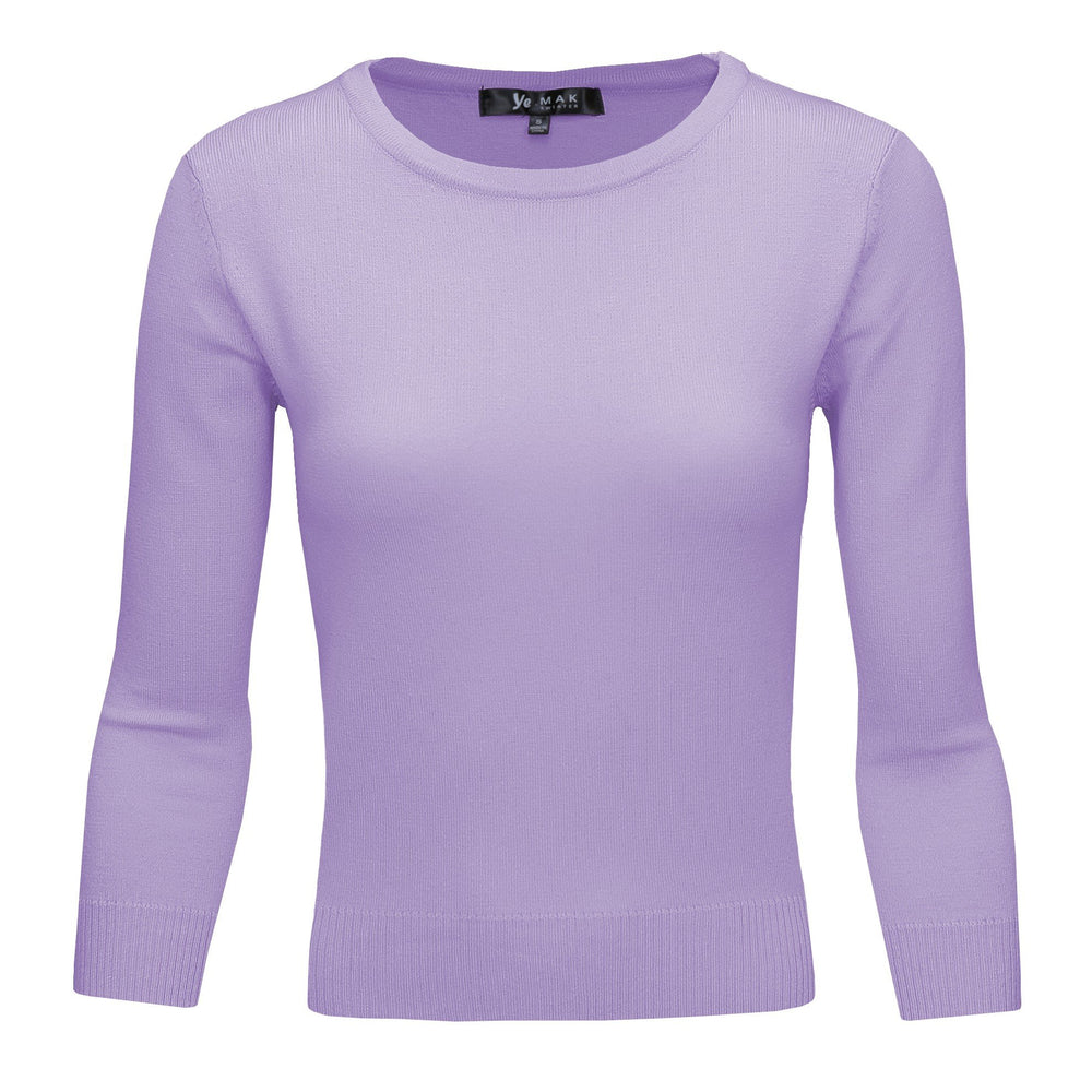 Lilac Slim Fit Pullover Sweaters