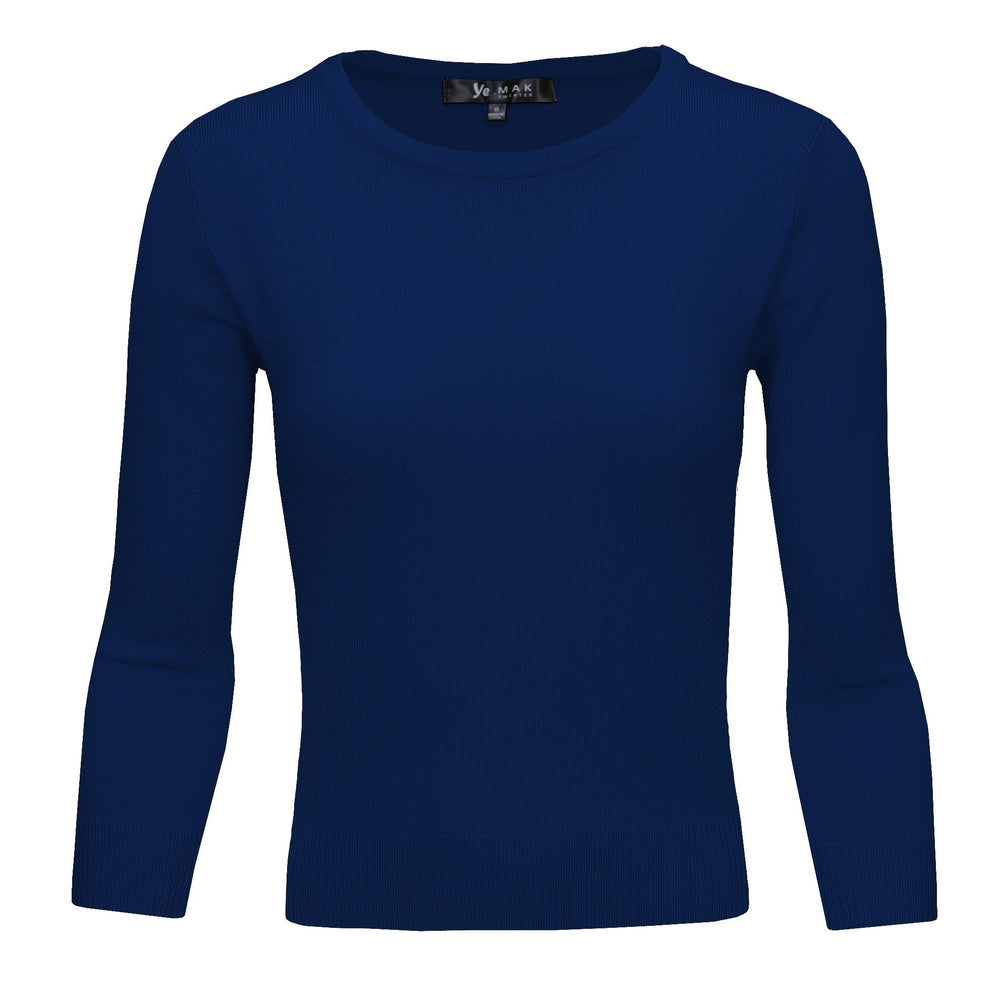 Navy Blue Slim Fit Pullover Sweaters