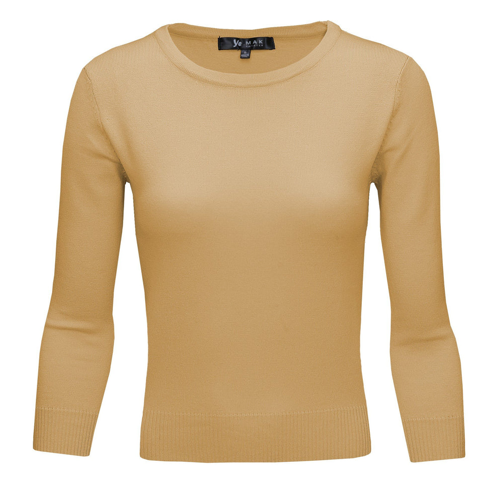 Taupe Slim Fit Pullover Sweaters