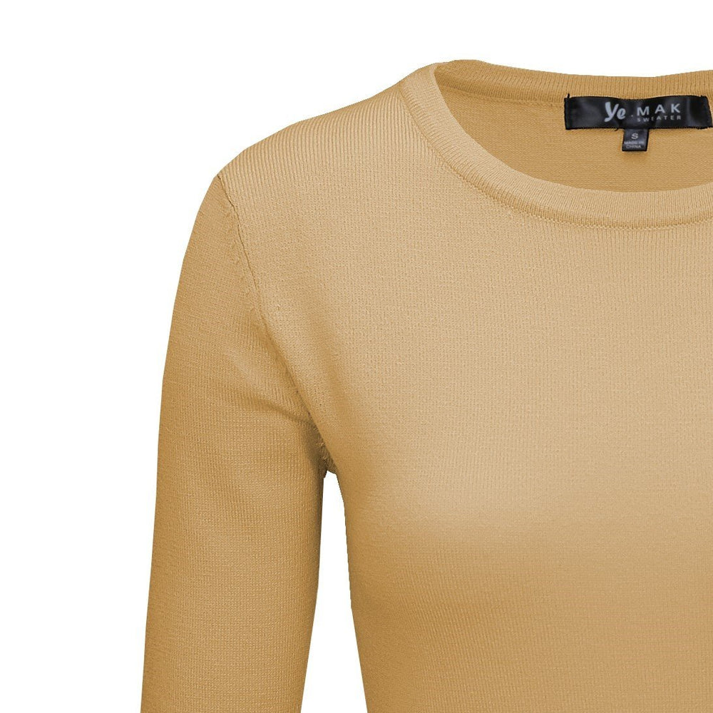 Taupe Light Weighted Pullover Sweaters