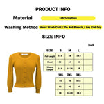 Cute Pattern Cropped Daily Cardigan Sweater Vintage Inspired Pinup MK3514 (S-XL) - Yemak Sweater