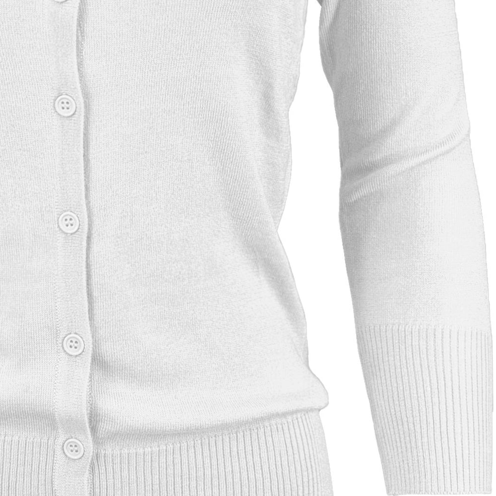 Womens Crewneck Button Down Knit Cardigan Sweater Inspired CO079PL PLUS size(1X-3X)Color(1 of 2) - Cardigans-Sweaters