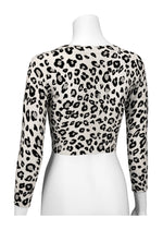 Women's Cropped 3/4 Sleeve Bolero Leopard Print Cardigan Sweater CO129LEO (S-XL)