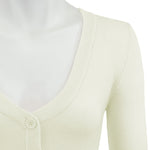 Womens Cropped 3/4 Sleeves Cardigan Sweater Inspired Pinup CO129PL (1X-4X)PLUS size Color(1 of 2) - Cardigans-Sweaters