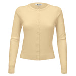 Women Long Sleeve Crewneck Button Down Casual Soft Touch Cardigan Sweater MK0179