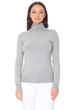 YEMAK Women's Classic Fitted Long Sleeve Turtleneck Pullover Sweater MK3349 (S-L)