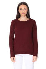 YEMAK Women's Casual Long Sleeve Crewneck Pullover Sweater MK3399 (S-L)