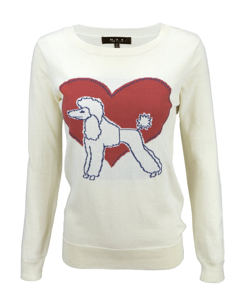 Vintage Poodle Sweater for Women