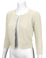 Cute Pattern Cropped Daily Cardigan Sweater Vintage Inspired Pinup MK3514 (S-XL) - Cardigan