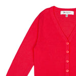 YEMAK Girl's Long Sleeve V-Neck Button Down Soft Knit Casual Cardigan Sweater MK5178KID
