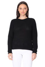 YEMAK Women's Casual Classic Crewneck Waffle Knit Long Sleeve Thin Pullover Sweater MK8176 (S-L)