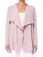Women's Open Front Long Sleeve Draped Stylish Cardigan Sweater MK8218