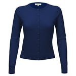Women Long Sleeve Crewneck Button Down Casual Soft Touch Cardigan Sweater MK0179 - Cardigans-Sweaters