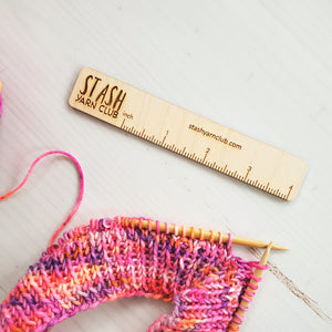 Stash Yarn Club 4 inch Ruler