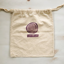 Load image into Gallery viewer, Hand Stamped Project Bag - Yarn Ball