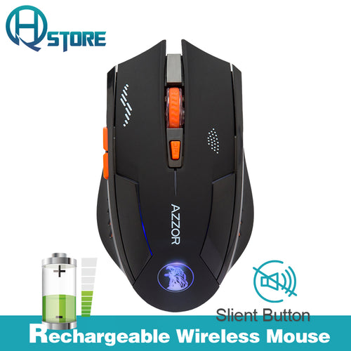 AZZOR Silent Wireless Optical Gaming Mice - Trigger Happy Gaming