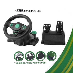 Steering Wheel With Pedals For XBOX 360 PS2 PS3 PC USB - Trigger Happy Gaming