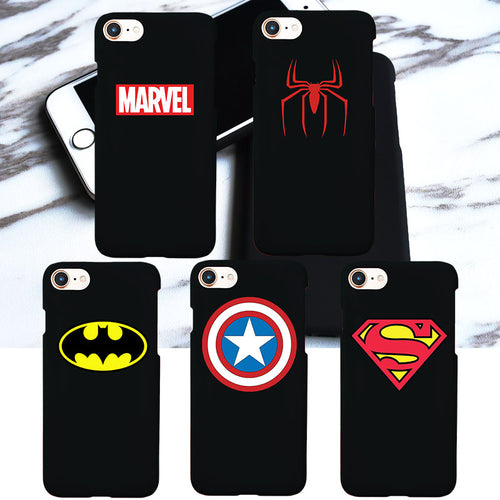 Superhero Logo Matte Hard Plastic Phone Cover - Trigger Happy Gaming