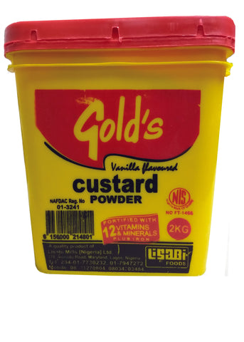 Gold's Custard Powder With Vanilla Flavour 2kg   4.40 lb