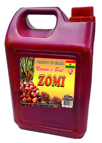Ghana ZOMI Red Palm Oil  4 Liter - 8.8 lb