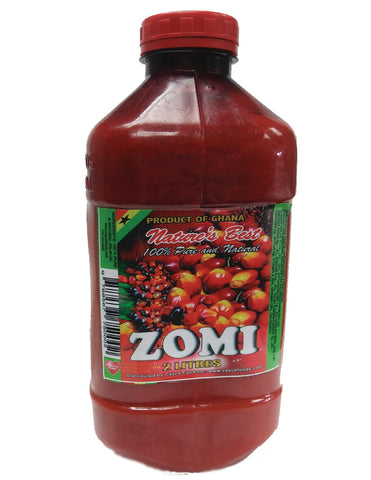 Ghana ZOMI Red Palm Oil  4.40 lb (2 Liter)