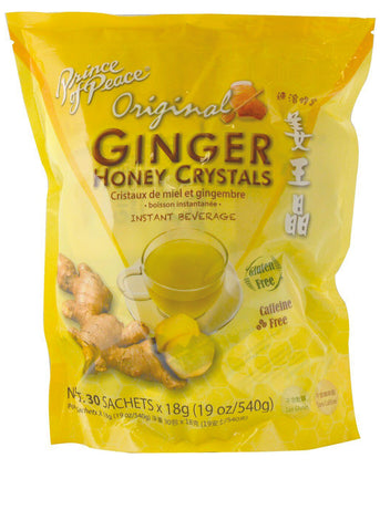 Ginger Honey Crystals Tea with lemon 30 Sachets,18g (19oz 540g)